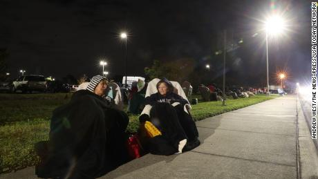 Some of those at Lakes Park Regional Library started lining up overnight.