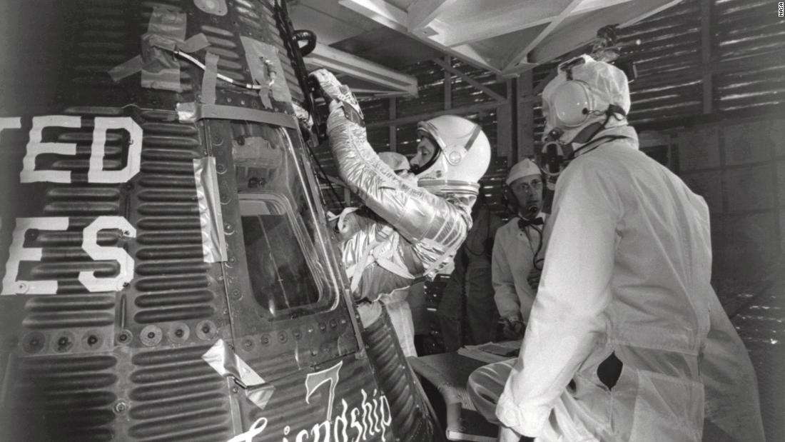 "<strong>1962:</strong> In the fine art of one-upmanship, on February 20, the US sent John Glenn into orbit in the Mercury Atlas 6 rocket named Friendship 7. The spacecraft orbited Earth three times, reaching speeds of <a href=""https://nssdc.gsfc.nasa.gov/nmc/spacecraft/display.action?id=1962-003A"" target=""_blank"">28,000 kilometers</a> per hour (17,000 miles per hour) and an altitude of 260 kilometers (161 miles). Four hours and 55 minutes later, it landed with a splash in the Atlantic Ocean. Glenn and his capsule were recovered by a US Navy ship 21 minutes later.<br />"