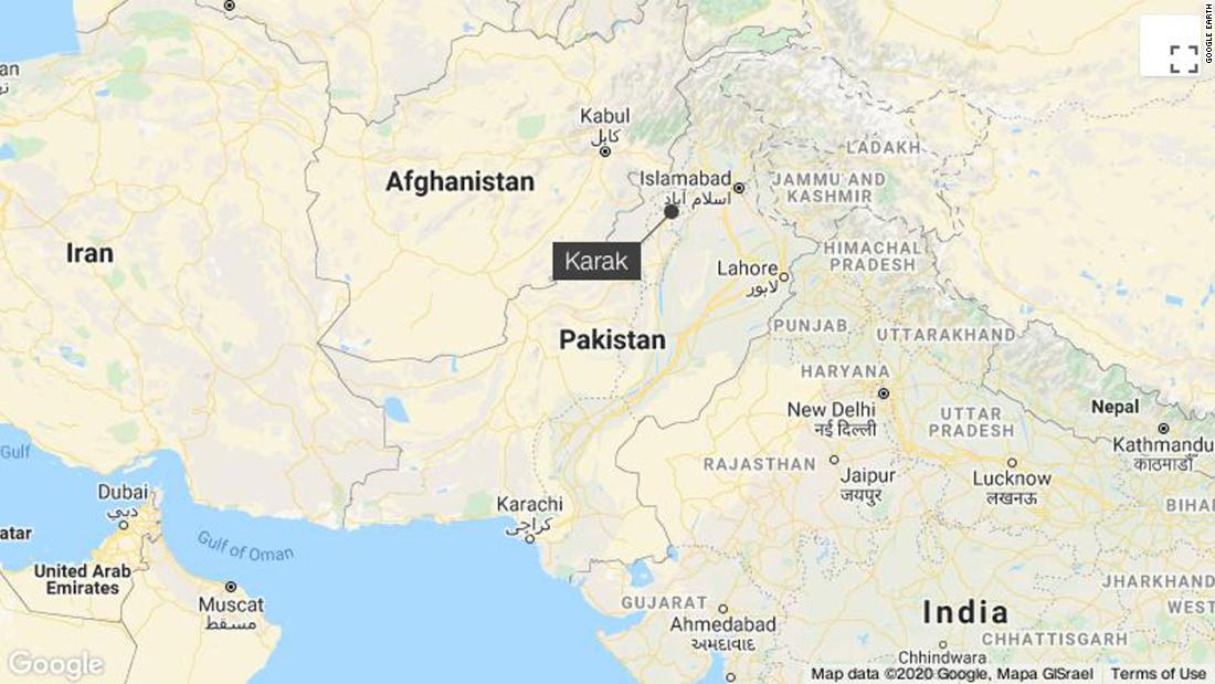 Mob attacks and sets ablaze a Hindu temple in northwestern Pakistan