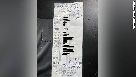 The tip was made by a regular customer who just wanted to give the restaurant's staff a gift.