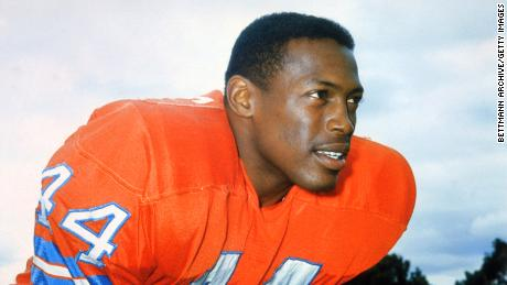 Running back Floyd Little played nine seasons for the Denver Broncos.