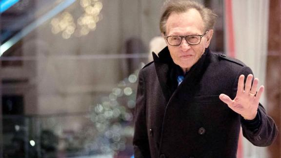 Image for Larry King has been hospitalized with Covid-19