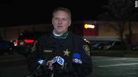 Loudoun County Sheriff Michael Chapman spoke to reporters about Saturday's shooting at a Walmart in Sterling, Virginia.