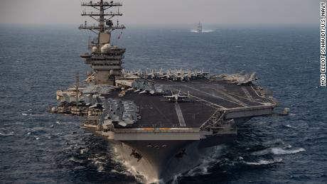 Trump directed Pentagon to reverse decision and keep aircraft carrier in Middle East amid Iran tensions