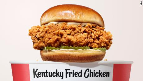 The new KFC chicken sandwich is now available in some cities.