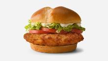 The Deluxe Crispy Sandwich is now on sale.