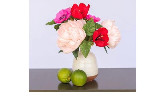 Unwilted Cherry on Top Crepe Paper Floral Arrangement