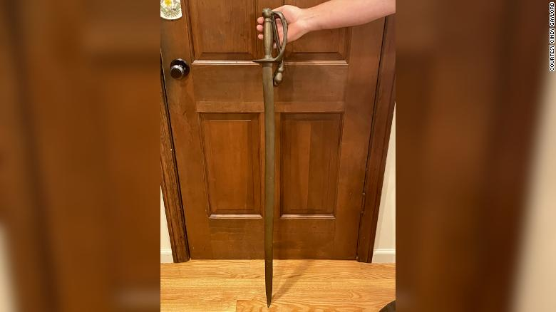 A sword taken from a Revolutionary War statue as a prank 40 years ago is finally returned