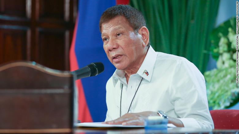 Philippine President Rodrigo Duterte blocks Senate attempt to probe guards' use of Covid-19 vaccine