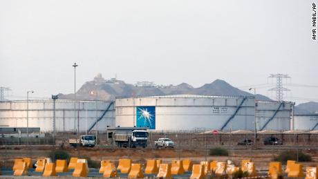 Storage tanks at a Saudi Aramco oil facility shown in September, 2019.