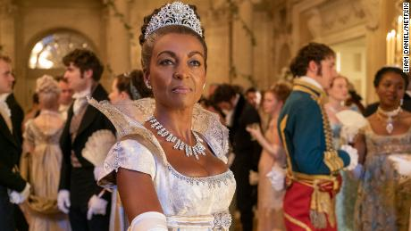 British actress Adjoa Andoh is shown here in her role as Lady Danbury.