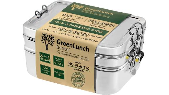 GreenLunch 3-in-1 Stainless Steel Bento Box