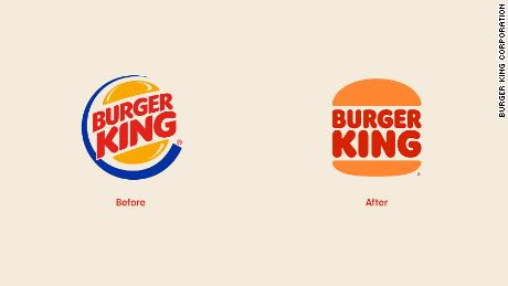 Burger King's old and new logo.