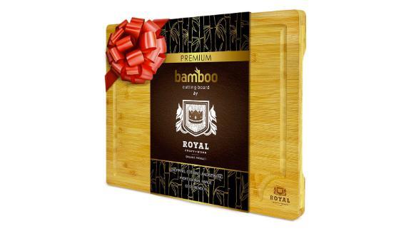 Organic Bamboo Cutting Board with Juice Groove, Medium