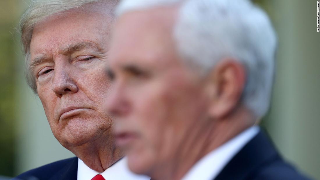 Pence calls Harris while Trump stews in denial