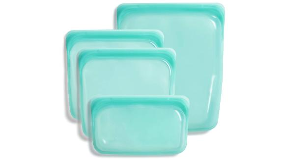 Stasher Silicone Reusable Storage Bags, Set of 4