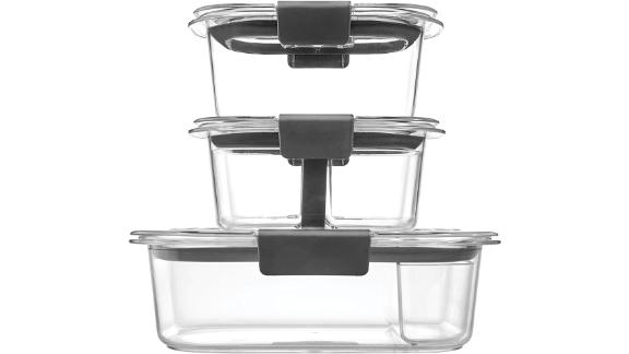 Rubbermaid Brilliance Food Storage Containers, Set of 10