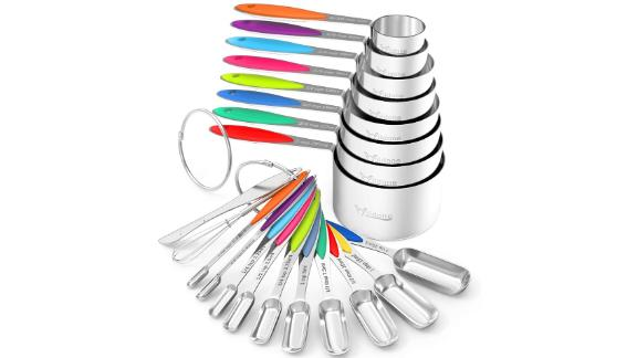 Wildone Stainless Steel 20-Piece Measuring Cups and Spoons Set