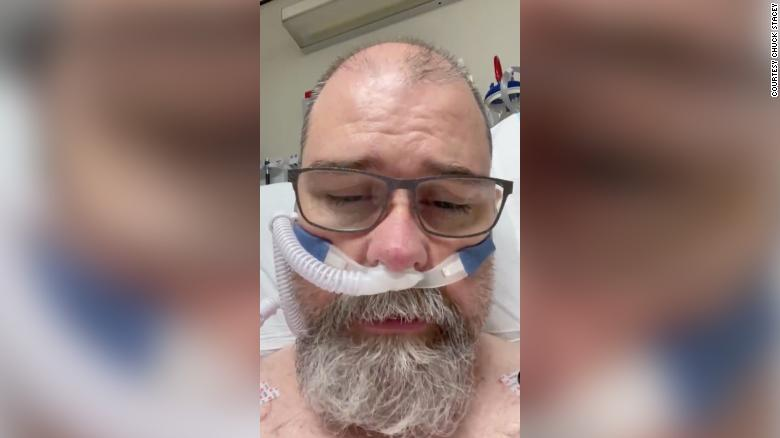He was skeptical of Covid-19. Now, from his hospital bed, he posts videos on social media urging others to wear their masks
