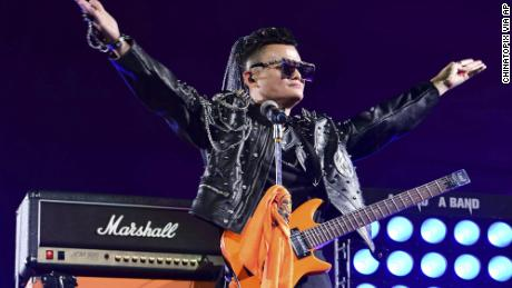 Jack Ma performs at Alibaba's 20th-anniversary celebration in Hangzhou, Zhejiang province, China in 2019.