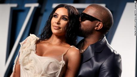 BEVERLY HILLS, CALIFORNIA - FEBRUARY 09: Kim Kardashian West and Kanye West attend the 2020 Vanity Fair Oscar Party hosted by Radhika Jones at Wallis Annenberg Center for the Performing Arts on February 09, 2020 in Beverly Hills, California. (Photo by Rich Fury/VF20/Getty Images for Vanity Fair)