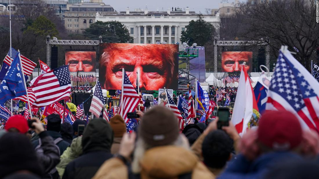 Trump supporters participate in a rally near the White House on Wednesday.