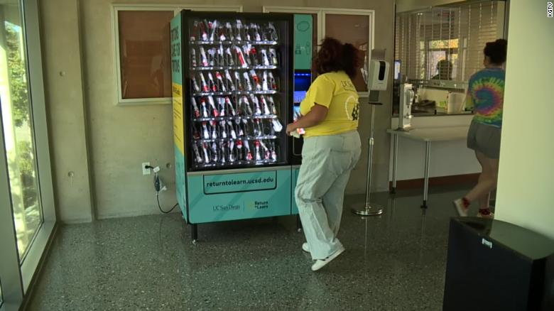 UC San Diego installs Covid-19 testing vending machines on campus
