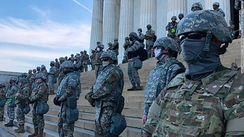 National Guard troops were deployed to the Lincoln Memorial on June 2, 2020, during protests held in Washington, DC, over the death of George Floyd.