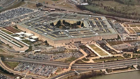 The Pentagon, the headquarters of the US Department of Defense, located in Arlington County, across the Potomac River from Washington, DC is seen from the air January 24, 2017.  / AFP PHOTO / Daniel SLIM        (Photo credit should read DANIEL SLIM/AFP via Getty Images)