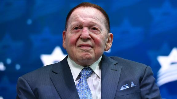 Philanthropist Chief Executive Officer of Las Vegas Sands Sheldon Adelson listens to US President Donald Trump address to the Israeli American Council National Summit 2019 at the Diplomat Beach Resort in Hollywood, Florida on December 7, 2019. (Photo by MANDEL NGAN / AFP) (Photo by MANDEL NGAN/AFP via Getty Images)