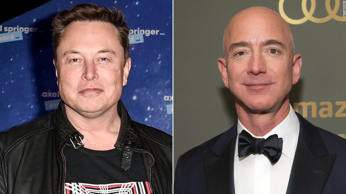 Elon Musk overtakes Jeff Bezos as the world's richest person