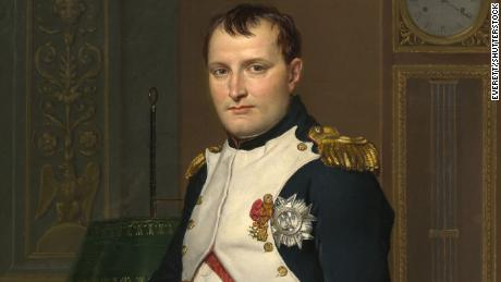 The note reveals how Napoleon, painted here by Jacques-Louis David in 1812, suffered severe ill health towards the end of his life.