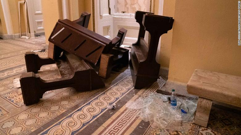 See the damage rioters did to the Capitol building