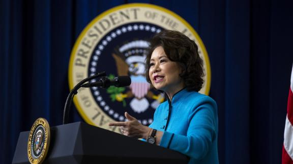 Elaine Chao, U.S. secretary of transportation, speaks during the White House State Leadership Day conference in Washington, D.C., U.S., on Tuesday, Oct. 23, 2018.