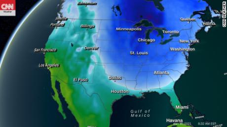 Previsión de temperaturas para el 16 de enero de 2021