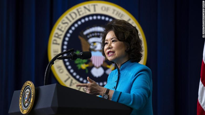 Transportation Department watchdog asked DOJ to consider criminal probe of then-Secretary Elaine Chao over ethics concerns