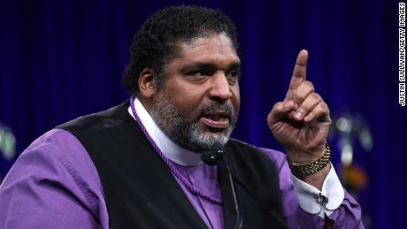 Rev. William Barber II of North Carolina speaks during a Democratic Presidential Committee (DNC) summer meeting on August 23, 2019 in San Francisco.