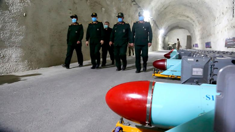 Iran unveils underground missile base on Gulf coast, state media says