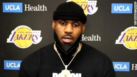 LeBron James speaks about the Capitol riots.
