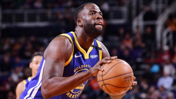 PHOENIX, AZ - FEBRUARY 12: Draymond Green #23 of the Golden State Warriors shoots a free throw during the game against the Phoenix Suns on February 12, 2020 at Talking Stick Resort Arena in Phoenix, Arizona. NOTE TO USER: User expressly acknowledges and agrees that, by downloading and or using this photograph, user is consenting to the terms and conditions of the Getty Images License Agreement. Mandatory Copyright Notice: Copyright 2020 NBAE (Photo by Michael Gonzales/NBAE via Getty Images)
