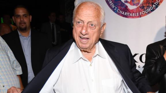 LAS VEGAS, NV - SEPTEMBER 12:  Former Los Angeles Dodgers manager Tommy Lasorda attends Criss Angel