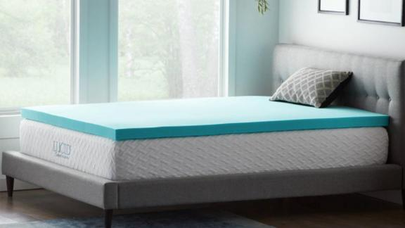 Lucid Comfort Collection 3-Inch Gel and Aloe-Infused Memory Foam Topper