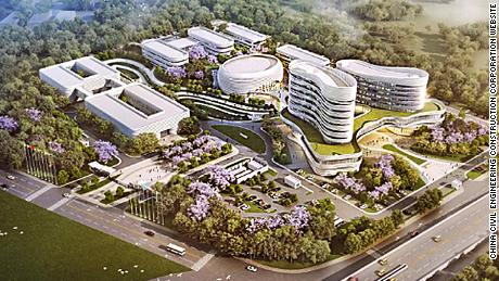 A rendering of the African CDC headquarters in Addis Ababa.