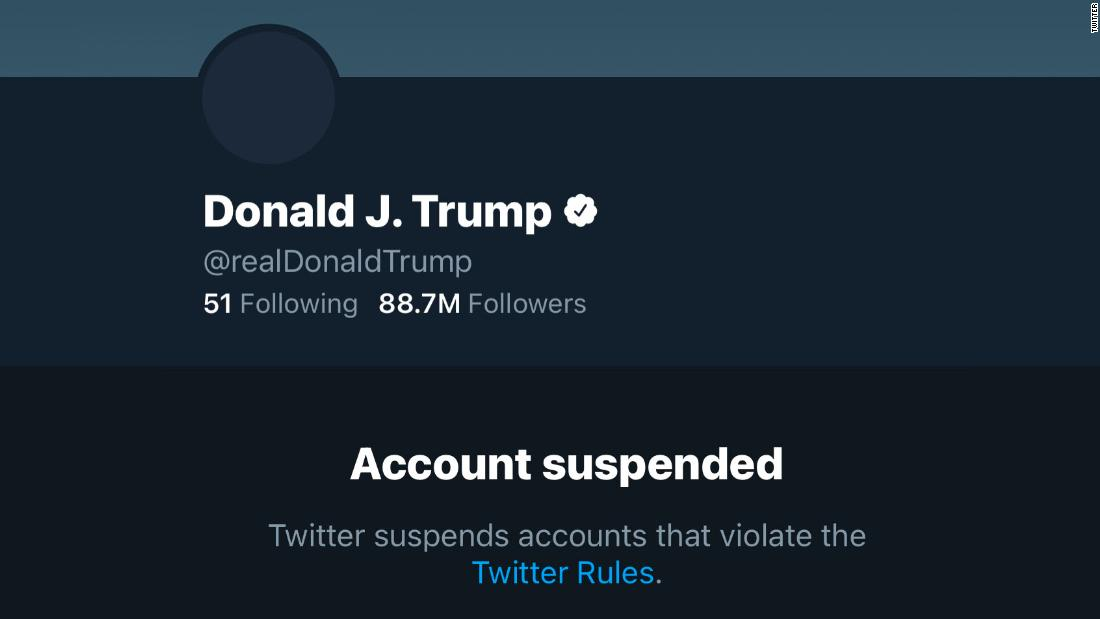 Twitter bans President Trump's account