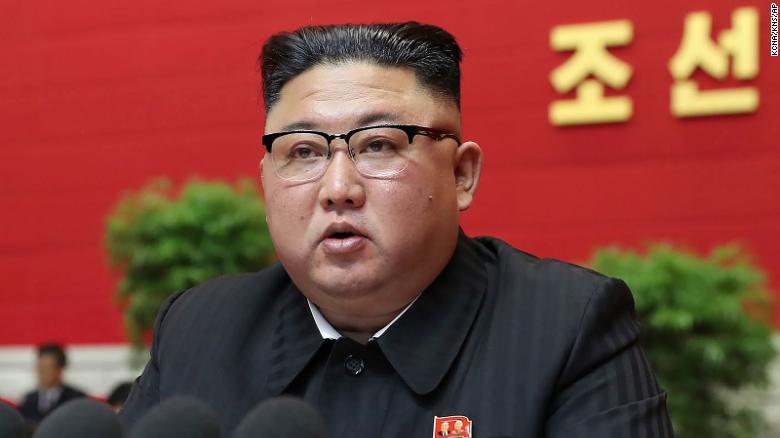 Dalam foto yang disediakan oleh pemerintah Korea Utara ini, pemimpin Korea Utara Kim Jong Un menghadiri Kongres Partai di Pyongyang, Korea Utara, pada hari Selasa.