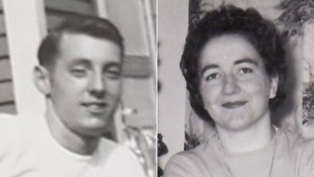 Fred Paul and Florence Harvey when they were younger.