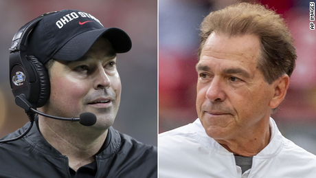 Head coaches Ryan Day and Nick Saban will face-off in the college football national championship.