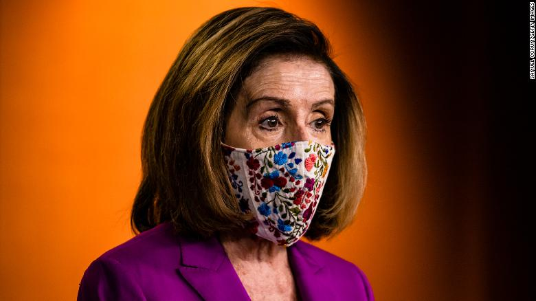 Speaker of the House Nancy Pelosi calls for the removal of President Donald Trump from office either by invocation of the 25th Amendment by Vice President Mike Pence and a majority of the Cabinet members or Impeachment at the Capitol on January 7, in Washington, DC.