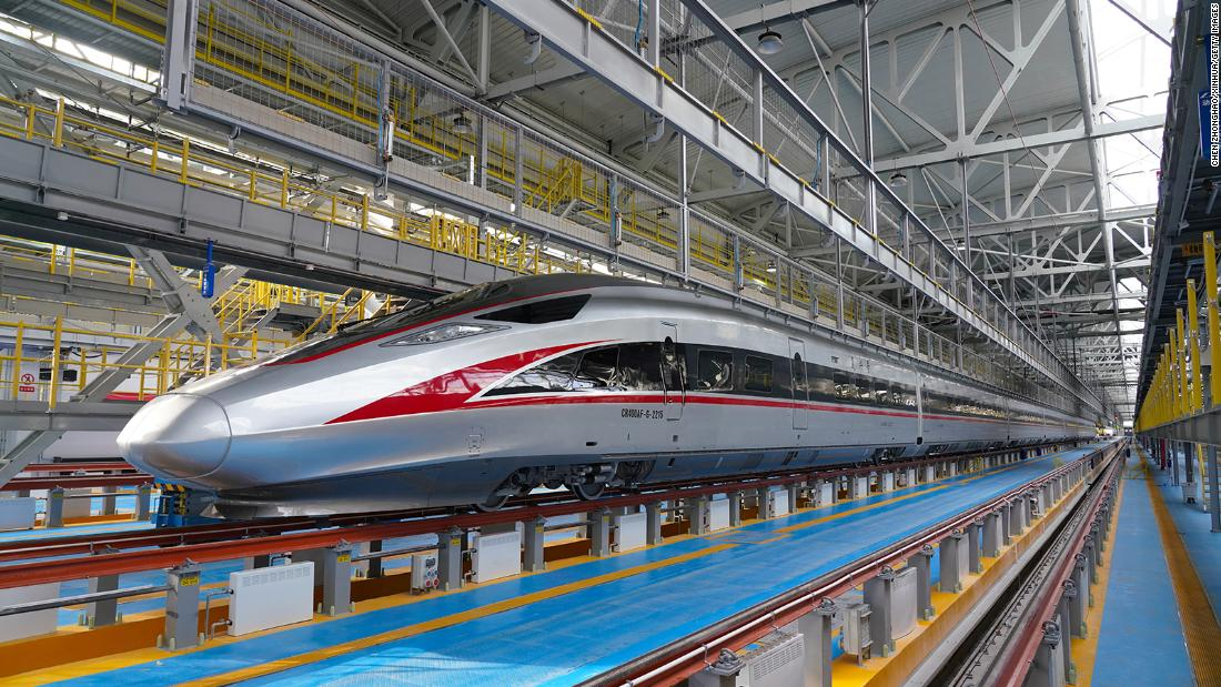 China debuts bullet train that can operate in extremely cold temperatures