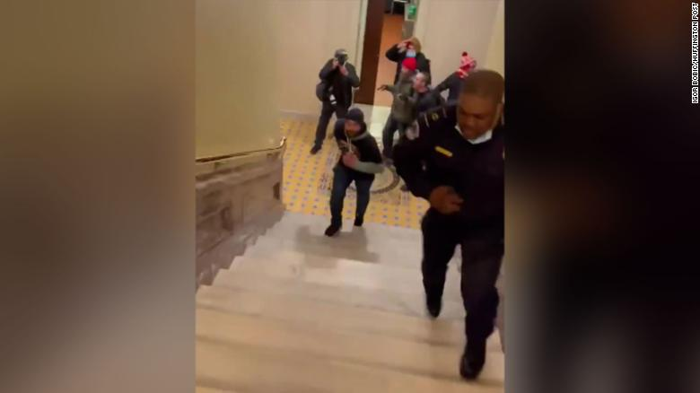How a lone Capitol Police officer lured rioters away from the Senate chambers